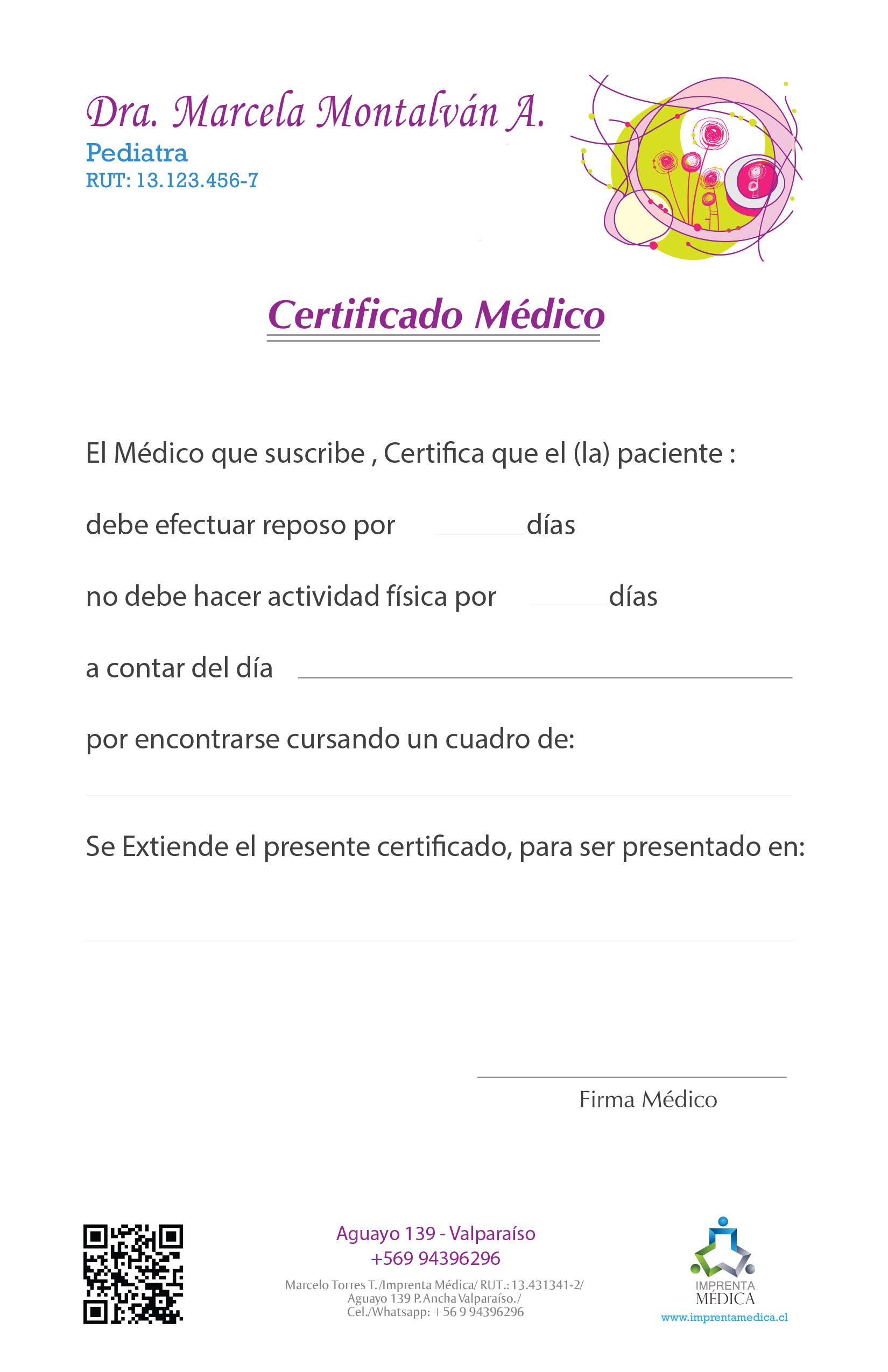 Certificado 03 Pediatra-Médico – Imprenta Médica