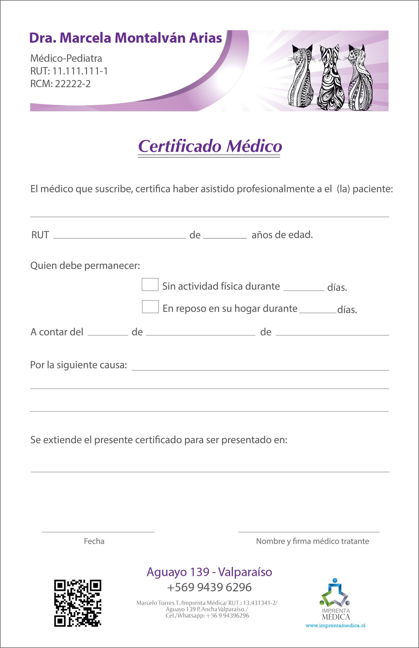 Certificado 07 Pediatra-Médico – Imprenta Médica