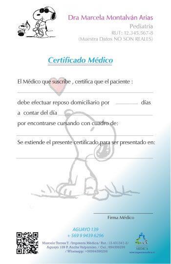 Certificados Pediátricos